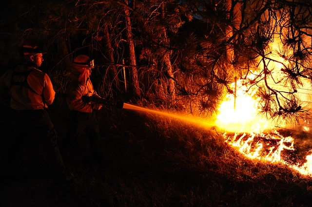 134 incendios en un fin de semana